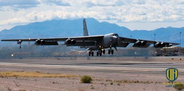 """بالفيديو: مقاتلة """"إف-16"""" تركية ترافق طائرة """"بي-52"""" أمريكية"""