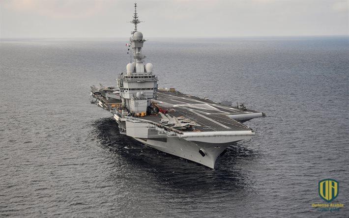 """للمحافظة على الأمن واستقرار الخليج والشرق الأوسط.. حاملة الطائرات الفرنسية """"شارل ديغول"""" تصل إلى البحرين"""