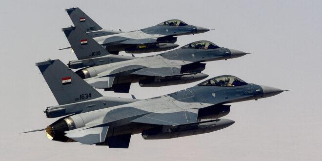 ثلاث مقاتلات تابعة للقوات الجوية العراقية من طراز F-16