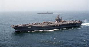 """مباحثات عسكرية تونسية أمريكية على متن حاملة الطائرات """"يو إس إس دوايت آيزنهاور"""""""