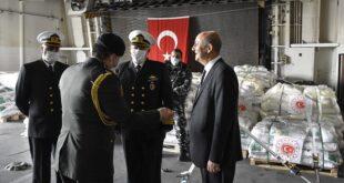 سفينة عسكرية تركية تدعم الجيش اللبناني بمساعدات