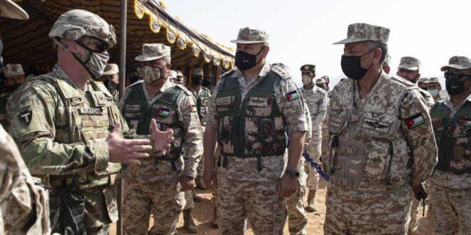 لقطات من التمرين العسكري مع القوات الأمريكية (موقع القيادة العامة للقوات المسلحة الاردنية)