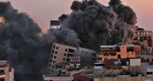 إسرائيل تقصف مبنى في غزة