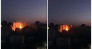 لحظة الانفجار في البرج السكني