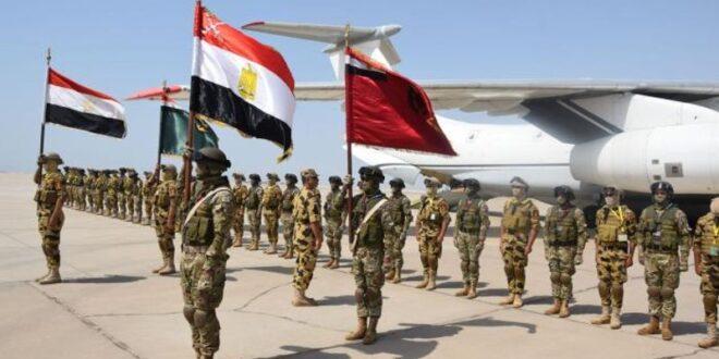 قوات مصرية مشاركة في التدريب العسكري