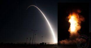 اختبار صاروخ Minuteman III العابر للقارات في الولايات المتحدة الأميركية