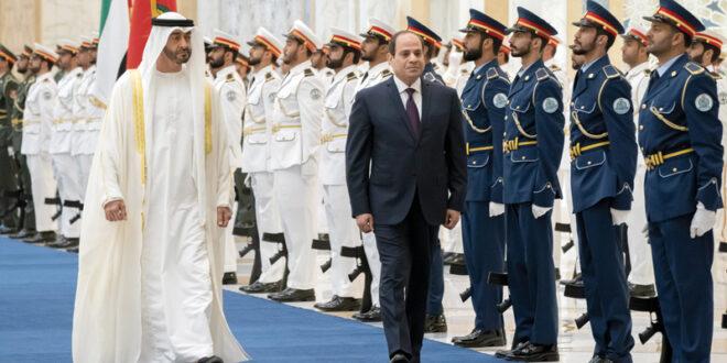 الشيخ محمد بن زايد آل نهيان والرئيس المصري عبدالفتاح السيسي - أرشيفية