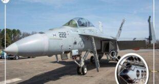 """أول رحلة للمقاتلة الكويتية سوبر هورنت وهي مزودة بحاضن استهداف من طراز """"Sniper ATP"""""""