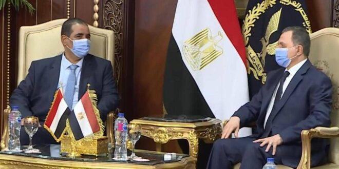 من لقاء الوزيرين في القاهرة (سكاي نيوز)