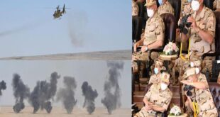 """وزير الدفاع المصري يشهد المرحلة الرئيسية للمناورة """"رعد – 5"""" بالذخيرة الحية (فيديو)"""