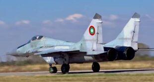 مقاتلة ميغ 29 تابعة لسلاح الجو البلغاري