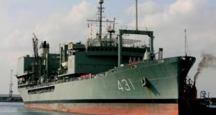 بالفيديو: سفينة عسكرية إيرانية تغرق بسبب حريق على متنها