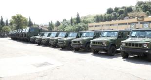 الجيش اللبناني يتسلّم آليات عسكرية مقدمة من الصين (فيديو)