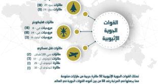 إنفوجرافيك: القوات الجوية الإثيوبية بالأرقام