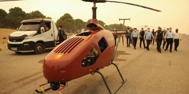 المروحية التي صممتها شركة التكنولوجيا التركية تضم كاميرات حرارية وأجهزة استشعار (trthaber)