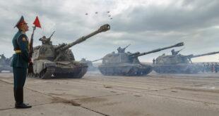 لقطة من المناورات العسكرية الصينية الروسية